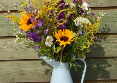 sunflowersinbluepitcher