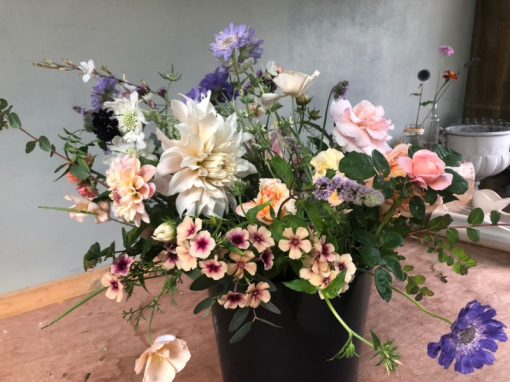 DIY Flower Bucket - Late Season