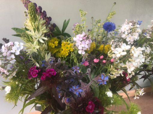 DIY Flower Bucket - Mid Season
